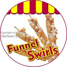 Funnel Swirls DECAL (Choose Your Size) Concession Food Truck Circle Sticker