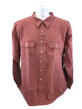 NEW L.L. Bean Men's Mountain Red Long Sleeve Button Up Shirt Sz XL