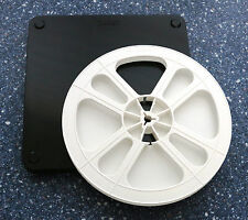 8Mm Movie Film Reel And Archival Can Set - 400 Ft 7 Inch - black and white
