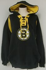 BOSTON BRUINS HOCKEY HOODED BLACK/YELLOW SWEATSHIRT SIZE XL EUC