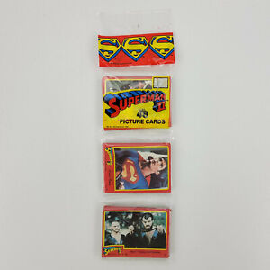 Vtg 1981 Topps DC Comics Superman 2 II Movie 48 Trading Picture Cards Rack Pack