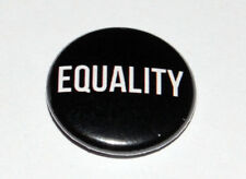 EQUALITY 25MM / 1 INCH BUTTON BADGE POLITICS ANTI-RACISM/ANTI-RACIST LGBT