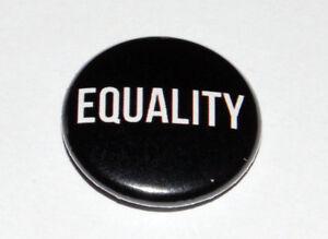 EQUALITY 25MM / 1 INCH BUTTON BADGE POLITICS ANTI-RACISM/ANTI-RACIST LGBT