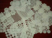 Antique&Vintage Handmade White Lot Of 25 pcs Cotton Crochet Lace Doilies*Code:82