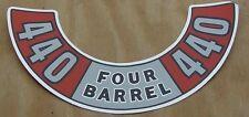 Mopar NEW 440 Four Barrel Air Cleaner Decal DD0041