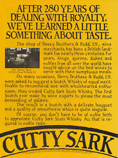 Cutty Sark Scotch Whisky Original 1978 Vintage Print Advertisement Tasting Room