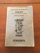 SOKKISHA SDM3ER ELECTRONIC TACHEOMETER OPERATION MANUAL SURVEYING