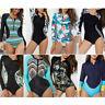 One Piece Long Sleeve Swimsuit Swimwear Women's Rash Guard UV Protection Surfing