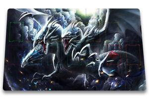 Yugioh Blue-Eyes Ultimate Dragon Playmat TCG OCG CCG Custom Duel Mat Free Bag