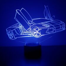 Racecar LED Night Light - Personalized FREE - 16 Color LED w/ Remote