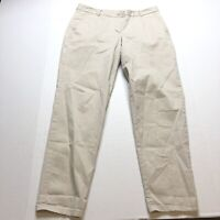 Talbots The Weekend Chino Pants Tan Khaki Size 8 A1223