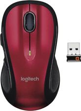 Logitech M510 Wireless Laser Mouse- Red