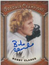 BOBBY CLARKE Autographed Signed Goodwin Champions card Philadelphia Flyers COA