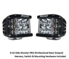 Rigid Industries D-SS Side Shooter PRO Flood Hybrid Optics - Surface Mount Pair