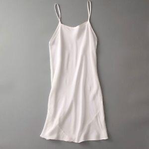 Women 100% Silk Full Slip Under Dress Strap Long Vest Chemise Petticoat Nightie