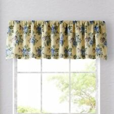 Laura Ashley LINLEY YELLOW BLUE WINDOW VALANCE COTTON NIP