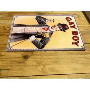 GAY BOY TOBACCO CIGARETTES 1890 ENAMEL / CERAMIC WALL SIGN