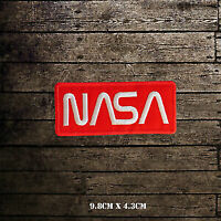 NASA USA Logo Embroidered Iron On Sew On Patch Badge For Clothes etc