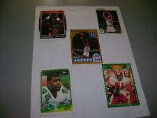 5 TRADING CARDS MICHAEL JORDAN, LARRY BIRD, CLYDE DREXLER, ART MONK, R. WHITE