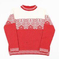 Vintage Wool Blend Patterned Jumper | Icelandic Fair Isle Nordic Christmas Retro