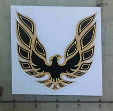 "Vintage Trans Am 1976-1978 gold/black sticker decal 4""x4"""