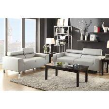 Poundex Furniture F7265 Poundex Bobkona Ellis Bonded Leather 2-piece Sofa Set