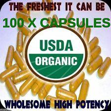 Tumeric Turmeric Root Curcuma Curcumin Longa Top CERTIFIED ORGANIC 100 Capsules