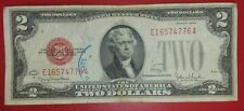 1928 $2 DOLLAR BILL U.S. TREASURY NOTE RED SEAL NOTE CURRENCY PAPER MONEY