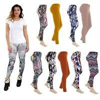 Womens Ladies Aztec Printed Skinny Stretchable Denim Look Jeggings Leggings