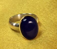 Vintage Mexico 925 Sterling Silver Blue Gemstone  Ring- Size 7 1/2 Fine Jewelry