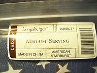 Genuine Longaberger Medium Serving Fabric Basket Liner American Starburst EUC
