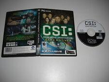 CSI Oscuras intenciones PC DVD ROM Fo Comercial-Envío rápido