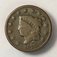 1827 CORONET HEAD 1C LARGE CENT ** EARLY US COPPER Lot#R125