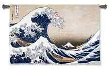 THE GREAT WAVE OFF KANAGAWA ART TAPESTRY WALL HANGING 52x35