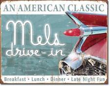 Mel's 1959 American Classic Cadillac Diner USA Vintage Metall Deko Schild