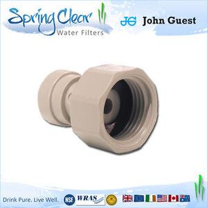 "John Guest 3/4 BSP - 3/8"" Push Fit Tap Connector, Ro Unit, Fridge Filters,Water"