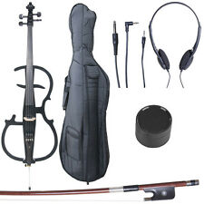 4/4 Electric Cello Full Size Ebony Style 2 ~Black