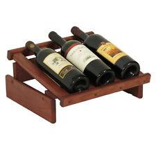 Wooden Mallet 3 Bottle DakotaWine Display- WRD3MH Wine Rack NEW