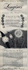 1957 Longines-Wittnauer Men Women Watch Nobel and Starlight Serenade PRINT AD