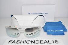 79e0350eb37 New TechnoMarine Authentic Manta Ray Crystal Mirrored TMEW006-09 54mm  Sunglasses