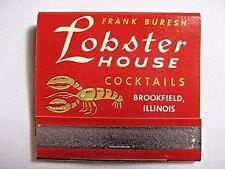 Vintage 1970's Frank Buresh Lobster House (Restaurant & Lounge) Brookfield, IL.