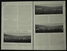 Oxford v Cambridge University Football Match 1898 2 Page Photo Article