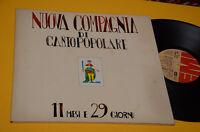 NUOVA COMPAGNIA CANTO POPOLARE LP 11 MESI..1°ST ORIG ITALY PROG 1977 EX+ GATEFOL