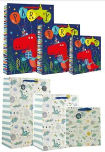 A Dinosaur Gift Bag for Presents Birthdays Party Kids Girls Boys