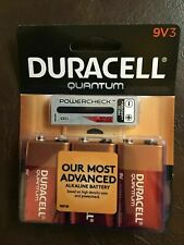 Duracell Quantum 66522 9-Volt Alkaline Battery 3 Pack Free Shipping Exp 2022 NEW