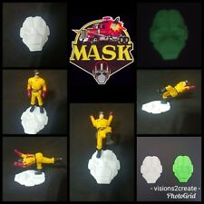 M.A.S.K. mask kenner toy custom (set of 12) stands vintage collectable figure