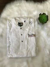 Mens Party Poker Polo Shirt XL Pique White Embroidered Worlds Largest Poker Room