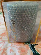 Oak Forest Aqua Glitter Handmade Beeswax Candle. NIB