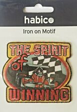 Habico The Spirit of Winning Motor Racing Iron on Motif Patch Child or Adult
