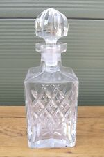 Cut Glass Waterford Crystal Square Decanter in the Nocturne Pattern